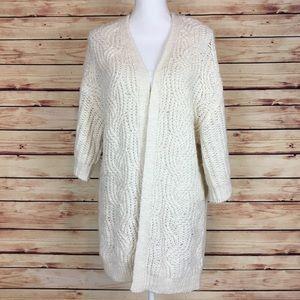 Urban Outfitters White Sweater Kimono Cardigan XS